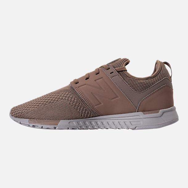 Left view of Men's New Balance 247 Knit Casual Shoes in Taupe/black