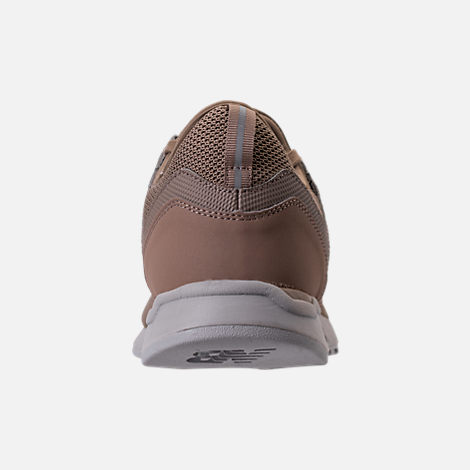 Back view of Men's New Balance 247 Knit Casual Shoes in Taupe/black