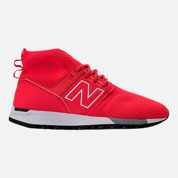 Right view of Men's New Balance 247 Mid Casual Shoes in Red/White