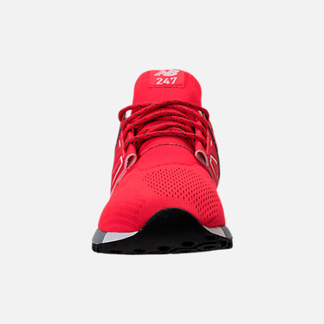 Front view of Men's New Balance 247 Mid Casual Shoes in Red/White