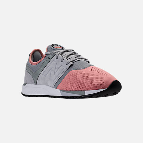 Three Quarter view of Men's New Balance 247 Casual Shoes in Dusted  Peach/Seed