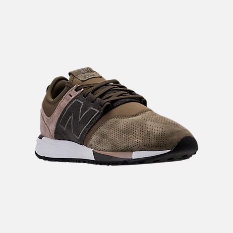 Three Quarter view of Men's New Balance 247 Premium Casual Shoes in Green/Beige