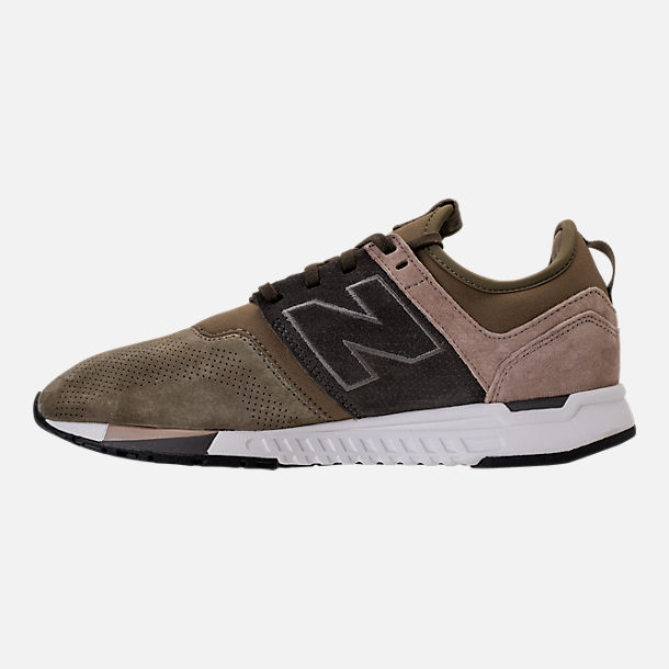 Left view of Men's New Balance 247 Premium Casual Shoes in Green/Beige