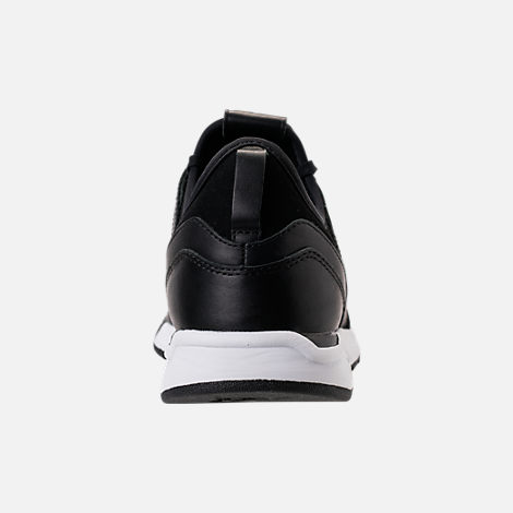 Back view of Men's New Balance 247 Leather Casual Shoes in Black/Black