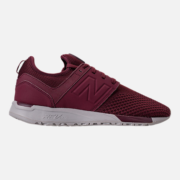 Right view of Men's New Balance 247 Knit Casual Shoes in Burgundy/Overcast