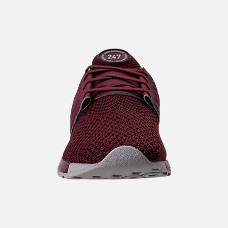Front view of Men's New Balance 247 Knit Casual Shoes in Burgundy/Overcast