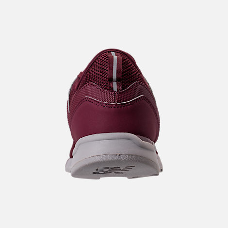 Back view of Men's New Balance 247 Knit Casual Shoes in Burgundy/Overcast