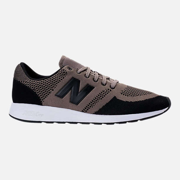 Right view of Men's New Balance 420 Textile Casual Shoes in Taupe/Black