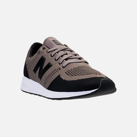 Three Quarter view of Men's New Balance 420 Textile Casual Shoes in Taupe/Black