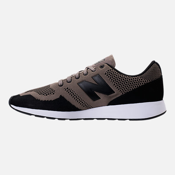 Left view of Men's New Balance 420 Textile Casual Shoes in Taupe/Black