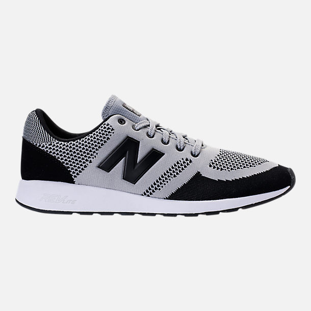Right view of Men's New Balance 420 Textile Casual Shoes in Grey/Black