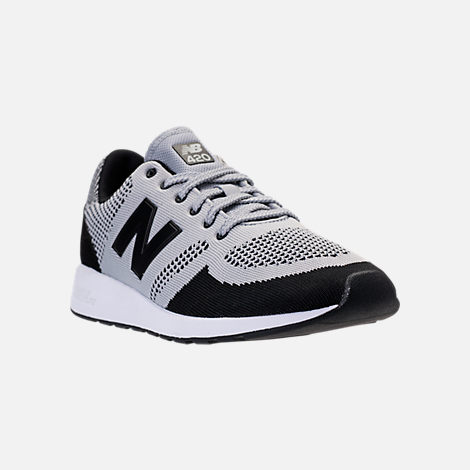 Three Quarter view of Men's New Balance 420 Textile Casual Shoes in Grey/Black