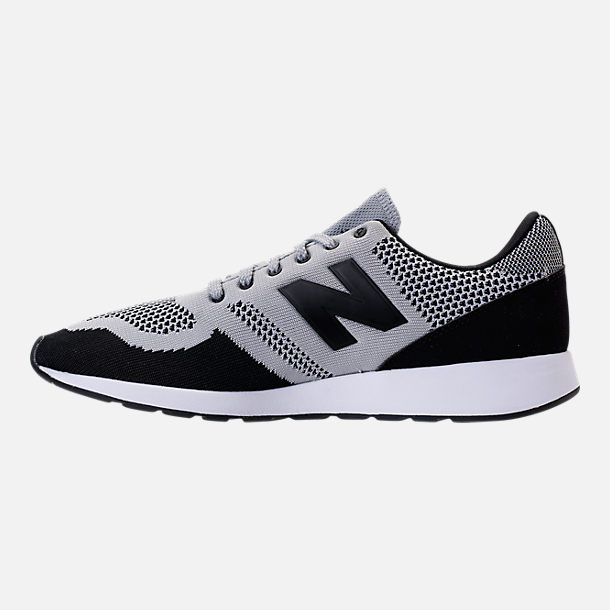 Left view of Men's New Balance 420 Textile Casual Shoes in Grey/Black
