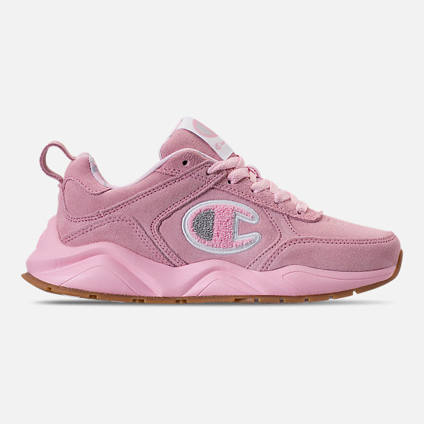 Right view of Girls' Champion 93Eighteen Casual Shoes in Pink Nubuck