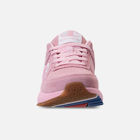 Front view of Girls' Champion 93Eighteen Casual Shoes in Pink Nubuck