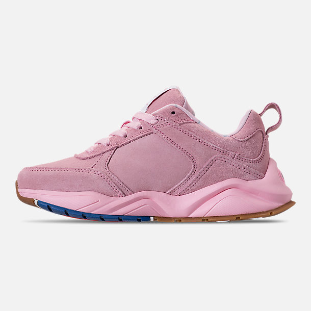 Left view of Girls' Champion 93Eighteen Casual Shoes in Pink Nubuck
