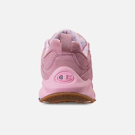 Back view of Girls' Champion 93Eighteen Casual Shoes in Pink Nubuck