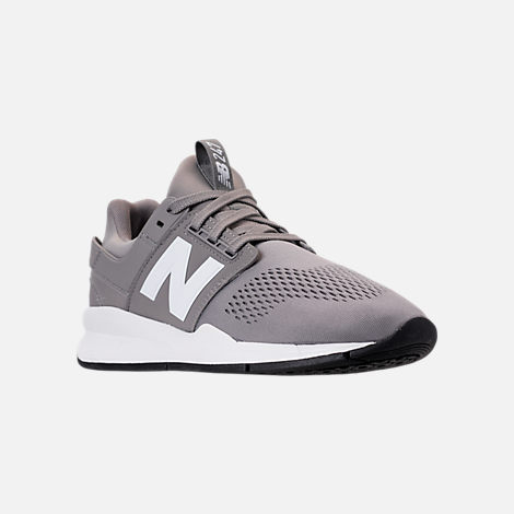 Three Quarter view of Men's New Balance 247 V2 Casual Shoes in Grey/White/Black