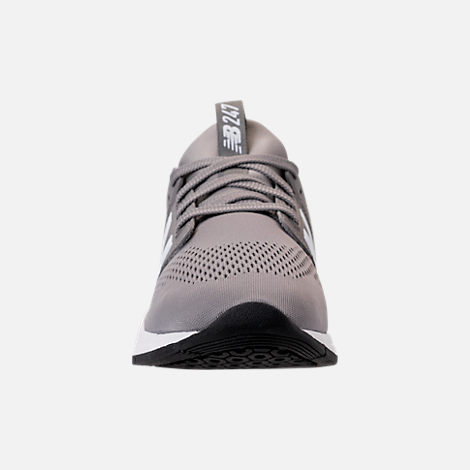Front view of Men's New Balance 247 V2 Casual Shoes in Grey/White/Black