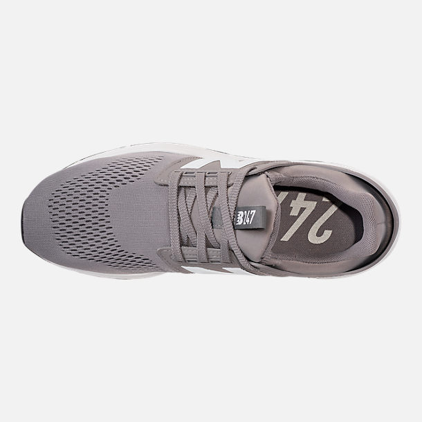 Top view of Men's New Balance 247 V2 Casual Shoes in Grey/White/Black