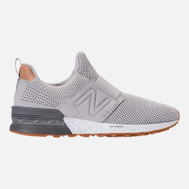 Right view of Men's New Balance 574 Sport Slip Casual Shoes in Castlerock/Silver