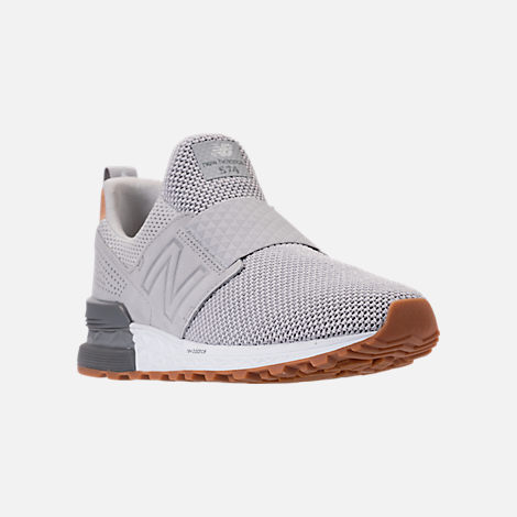 Three Quarter view of Men's New Balance 574 Sport Slip Casual Shoes in Castlerock/Silver