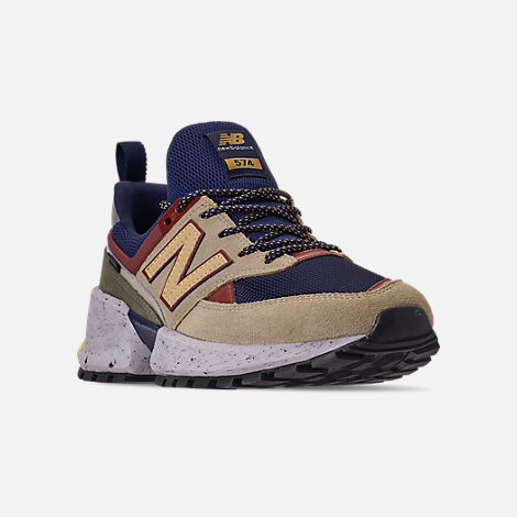 b6a414f27c9 Three Quarter view of Men's New Balance 574 Sport V2 Casual Shoes in Navy/ Gold