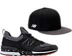 Men's New Balance 574 Sport x New Era 9Fifty Hat and Casual Shoes