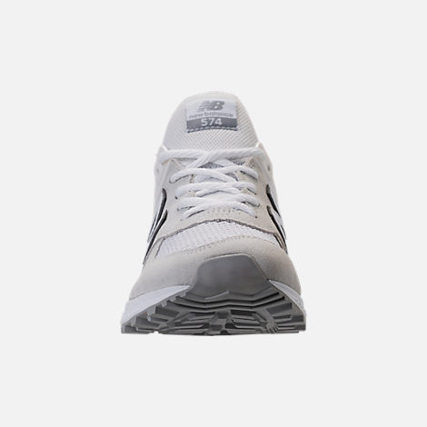 Front view of Men's New Balance 574 Sport Casual Shoes in Arctic Fox/Mussell White