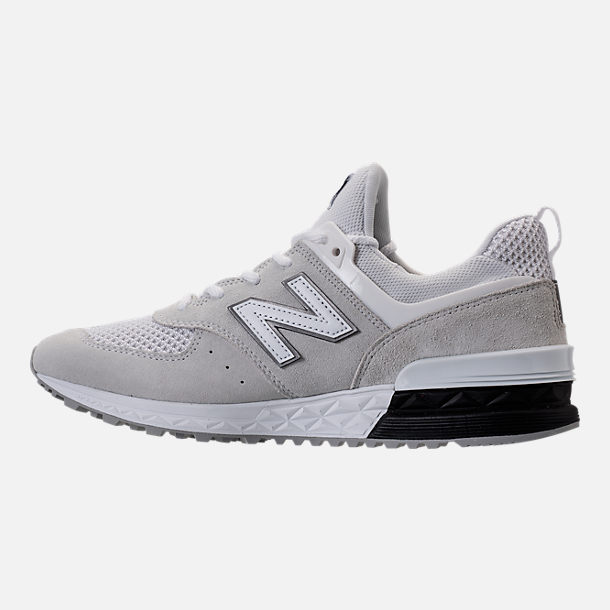 Left view of Men's New Balance 574 Sport Casual Shoes in Arctic Fox/Mussell White