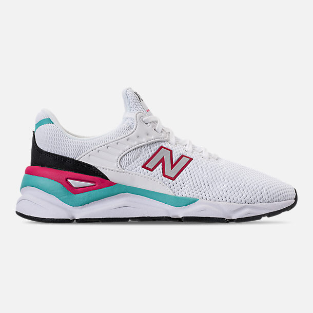 Right view of Men's New Balance X-90 Knit Casual Shoes in White/Pomegranate