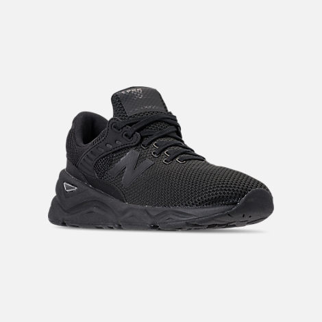 Three Quarter view of Men's New Balance X-90 Knit Casual Shoes in Black