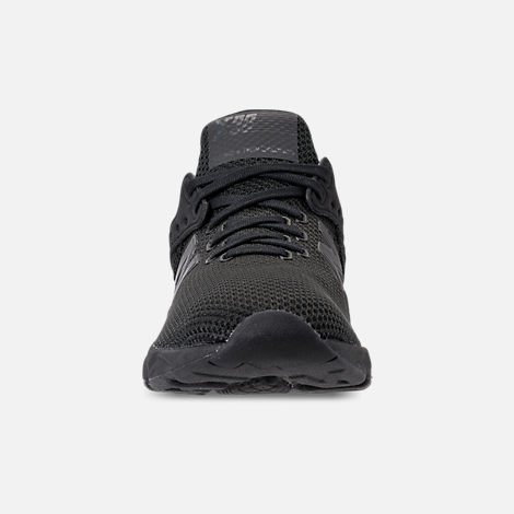 Front view of Men's New Balance X-90 Knit Casual Shoes in Black
