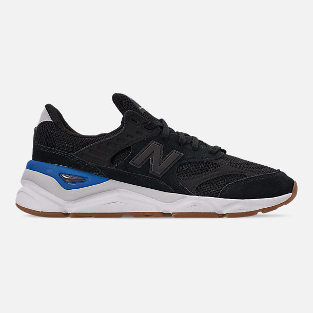 Right view of Men's New Balance X-90 V2 Casual Shoes in Blue/Blue/White