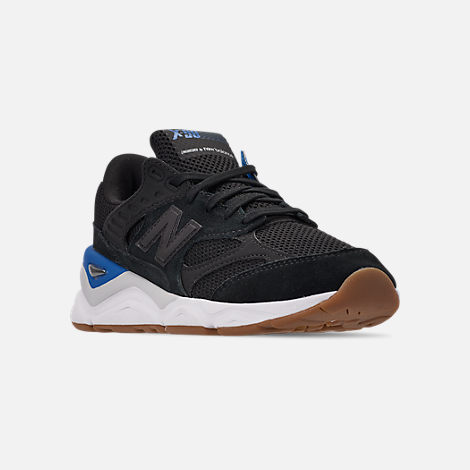 Three Quarter view of Men's New Balance X-90 V2 Casual Shoes in Blue/Blue/White