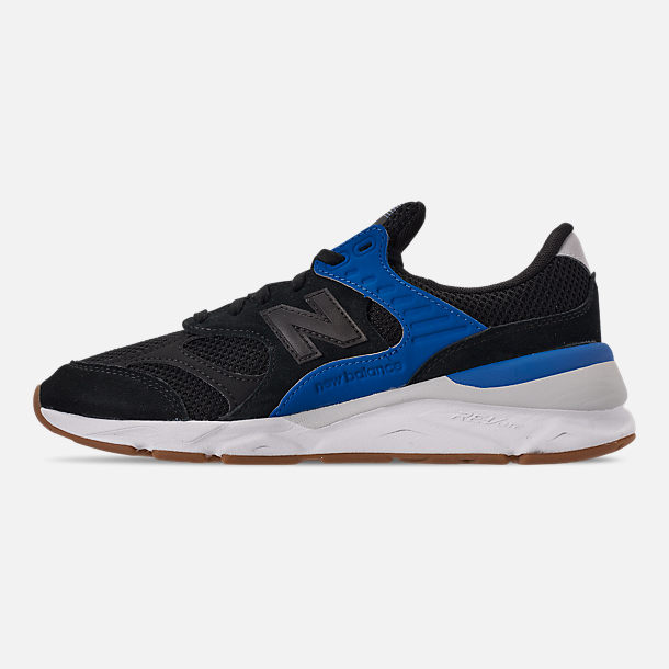 Left view of Men's New Balance X-90 V2 Casual Shoes in Blue/Blue/White
