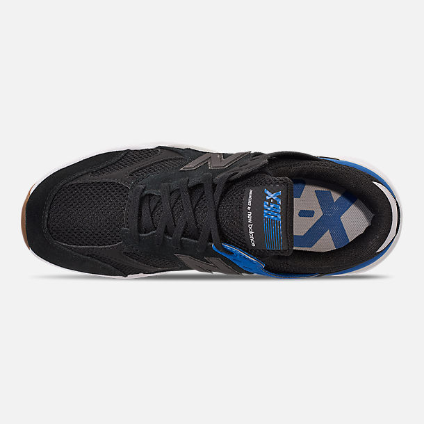 Top view of Men's New Balance X-90 V2 Casual Shoes in Blue/Blue/White