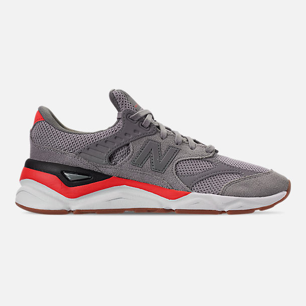 Right view of Men's New Balance X-90 V2 Casual Shoes in Grey/Black/Red