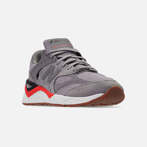 Three Quarter view of Men's New Balance X-90 V2 Casual Shoes in Grey/Black/Red