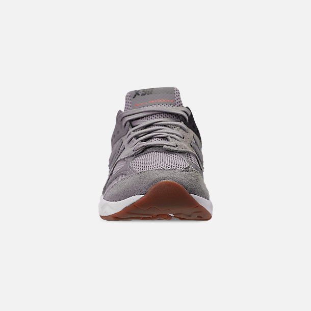 Front view of Men's New Balance X-90 V2 Casual Shoes in Grey/Black/Red