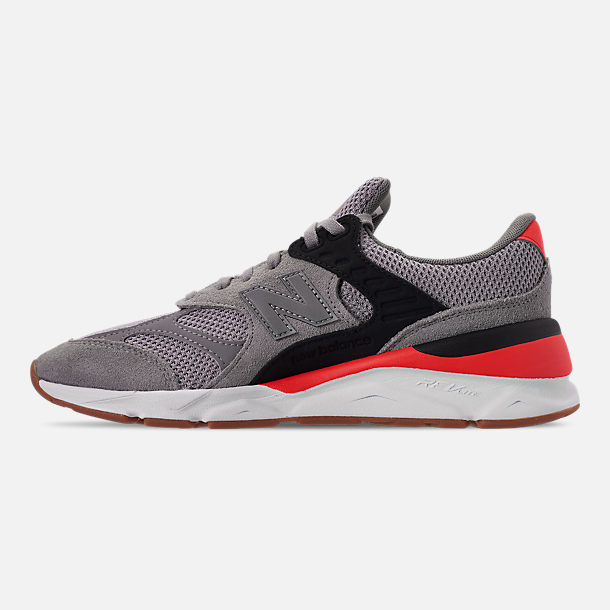 Left view of Men's New Balance X-90 V2 Casual Shoes in Grey/Black/Red