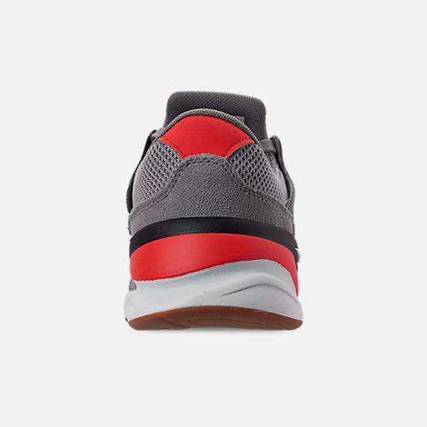 Back view of Men's New Balance X-90 V2 Casual Shoes in Grey/Black/Red