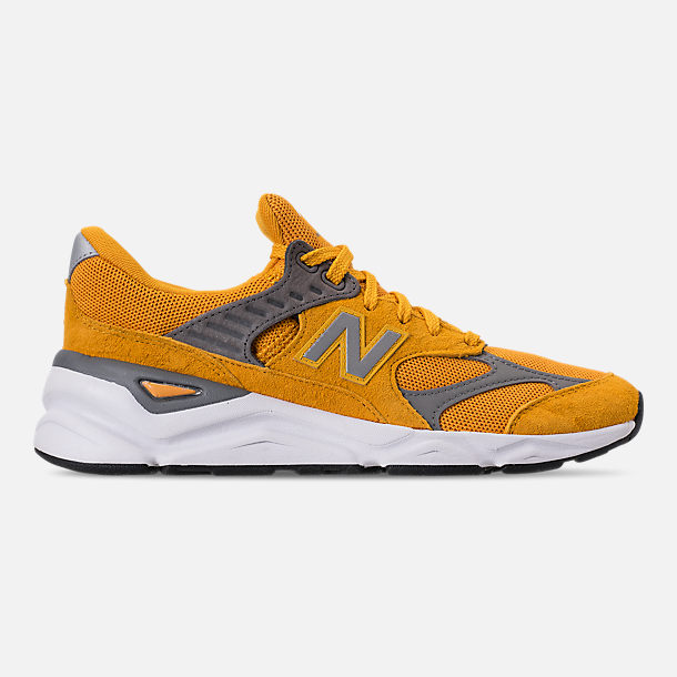Right view of Men's New Balance X-90 V2 Casual Shoes in Mustard/Yellow