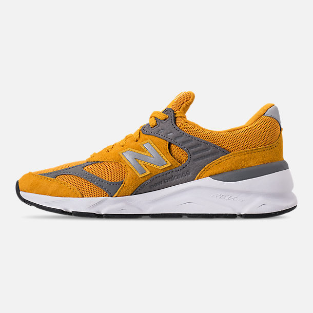 Left view of Men's New Balance X-90 V2 Casual Shoes in Mustard/Yellow