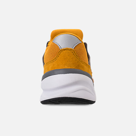 Back view of Men's New Balance X-90 V2 Casual Shoes in Mustard/Yellow