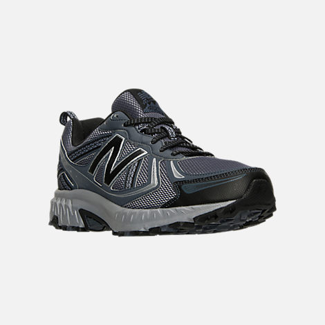 Three Quarter view of Men's New Balance 410 v5 Running Shoes in Anthracite/Dark Grey/Black