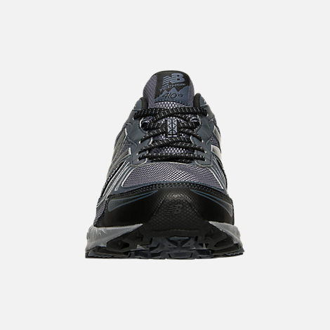 Front view of Men's New Balance 410 v5 Running Shoes in Anthracite/Dark Grey/Black