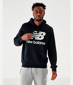 Men's New Balance Essentials Stacked Logo Hoodie