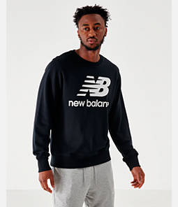 Men's New Balance Essentials Stacked Logo Crewneck Sweatshirt