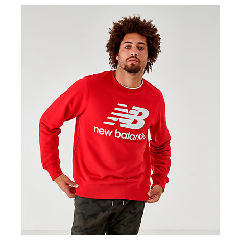b716ad95bd Men's Essentials Stacked Logo Crewneck Sweatshirt, Red - Size Xxlrg